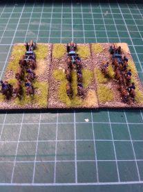 Horse artillery limbered